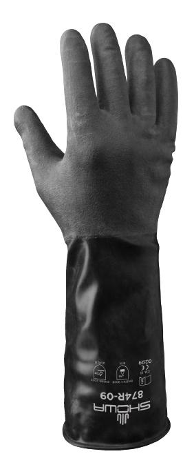 Showa 874r Chemical Resistant Butyl Glove Delta Health