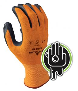 Showa 4570 general-purpose sponge Nitrile glove | Delta Health and Safety