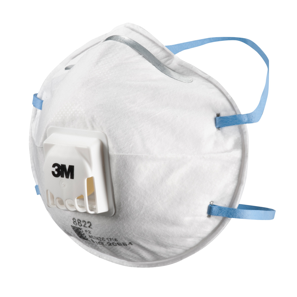 8822 Ffp2 Disposable Respirator Free Valved Delta Maintenance 3m
