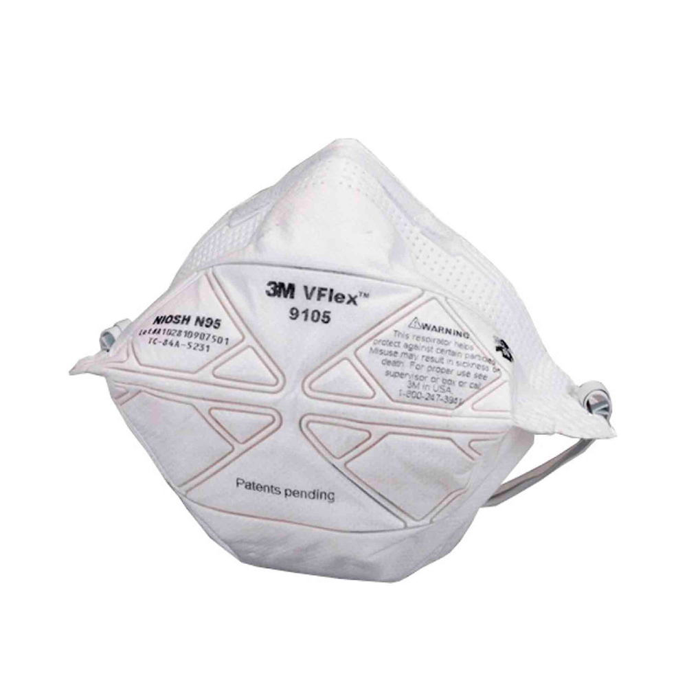 Free 3m Health Disposable Vflex Delta 9105 Maintenance Respirator