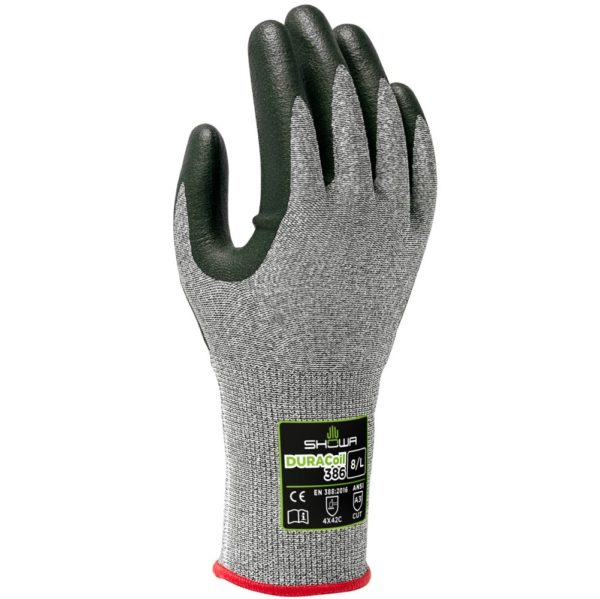 Showa cut protection gloves DURACoil 386 | Delta Health and Safety