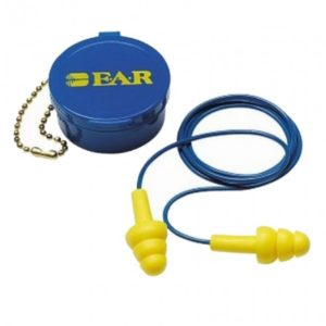 3M ultrafit earplugs corded with case hearing protection | Delta Health and Safety
