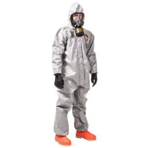 Kappler Zytron 200 Coverall with Booties Z2H426 is grey in colour | Chemical Workwear | Delta Health and Safety