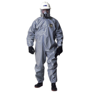 Kappler Zytron 200 Coverall with elasticated ankles Z2H428 is a grey coverall with hood | Chemical Workwear | Delta Health and Safety Equipment