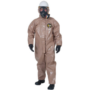 Kappler Zytron 300 Coverall with Booties Z3H426 in olive brown in colour | Chemical Workwear | Delta Health and Safety