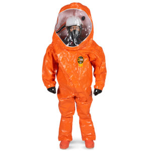 Kappler Zytron 500 Fully Encapsulated Suit is high visibility orange in colour | Chemical Workwear | Delta Health and Safety