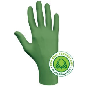 Showa 6110 chemical resistant gloves biodegradable disposable nitrile | Hand Protection | Delta Health and Safety