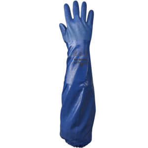 Showa NSK26 chemical resistant glove nitrile lined long | Hand Protection | Delta Health and Safety